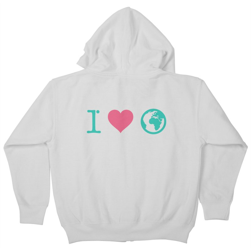 I Love Earth Kids Zip-Up Hoody by ONEELL