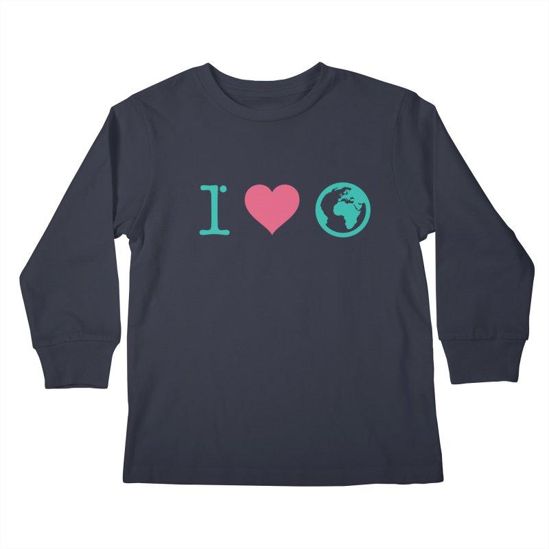 I Love Earth Kids Longsleeve T-Shirt by ONEELL