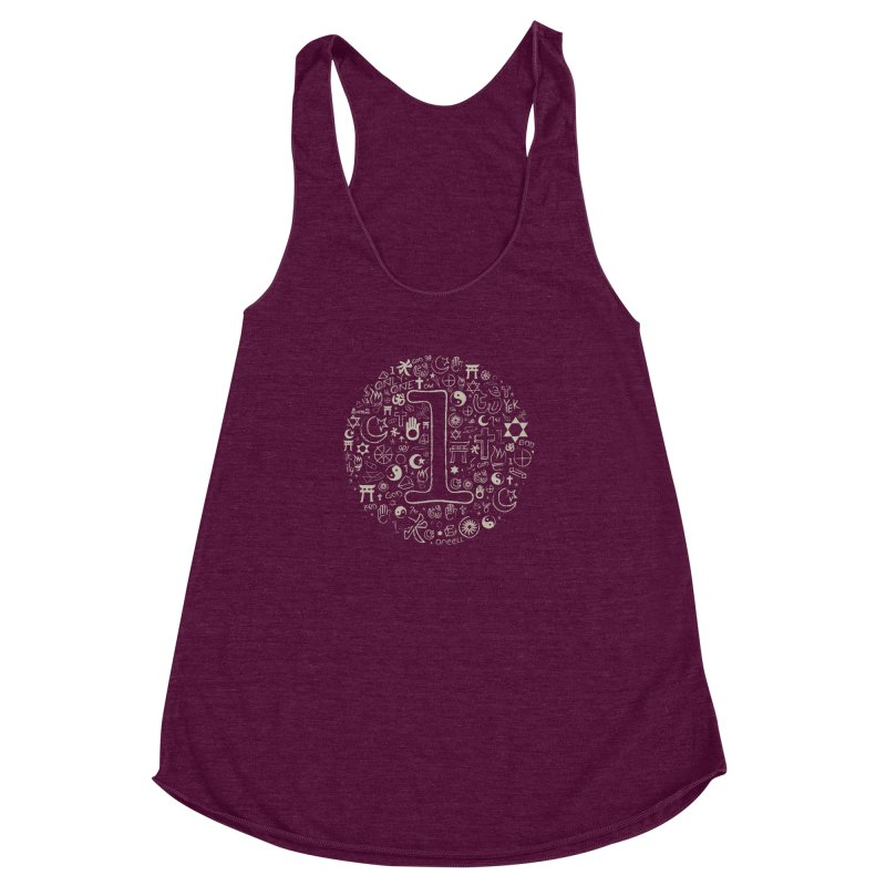 Only One Women's Racerback Triblend Tank by ONEELL