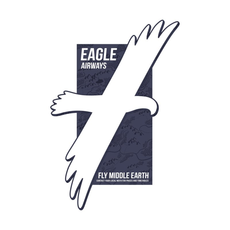 Eagle Airlines None  by One Legged Kiwi's Artist Shop