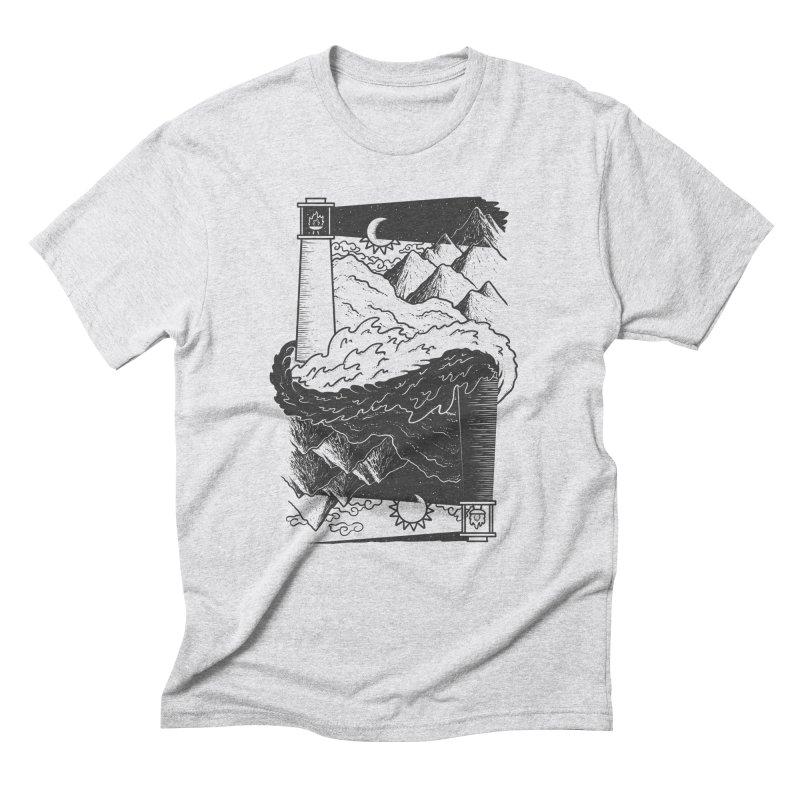 The Nighthouse Men's Triblend T-Shirt by One Legged Kiwi's Artist Shop