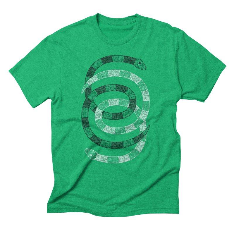 Snakes Men's Triblend T-Shirt by One Legged Kiwi's Artist Shop