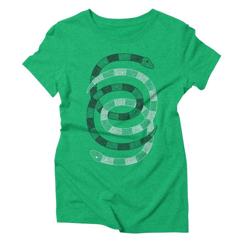Snakes Women's Triblend T-Shirt by One Legged Kiwi's Artist Shop