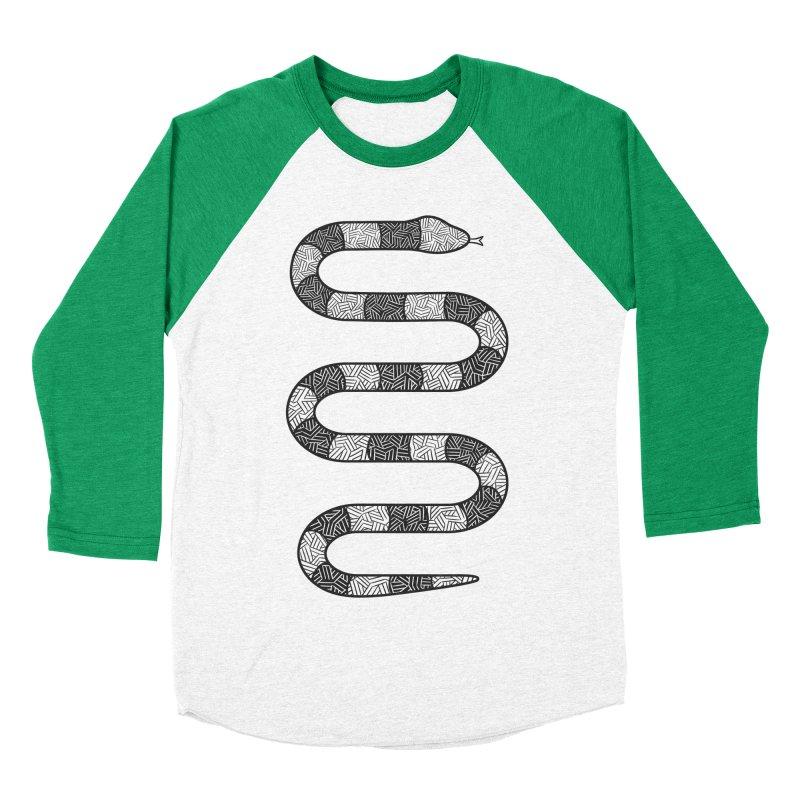 Hiss Women's Baseball Triblend T-Shirt by One Legged Kiwi's Artist Shop