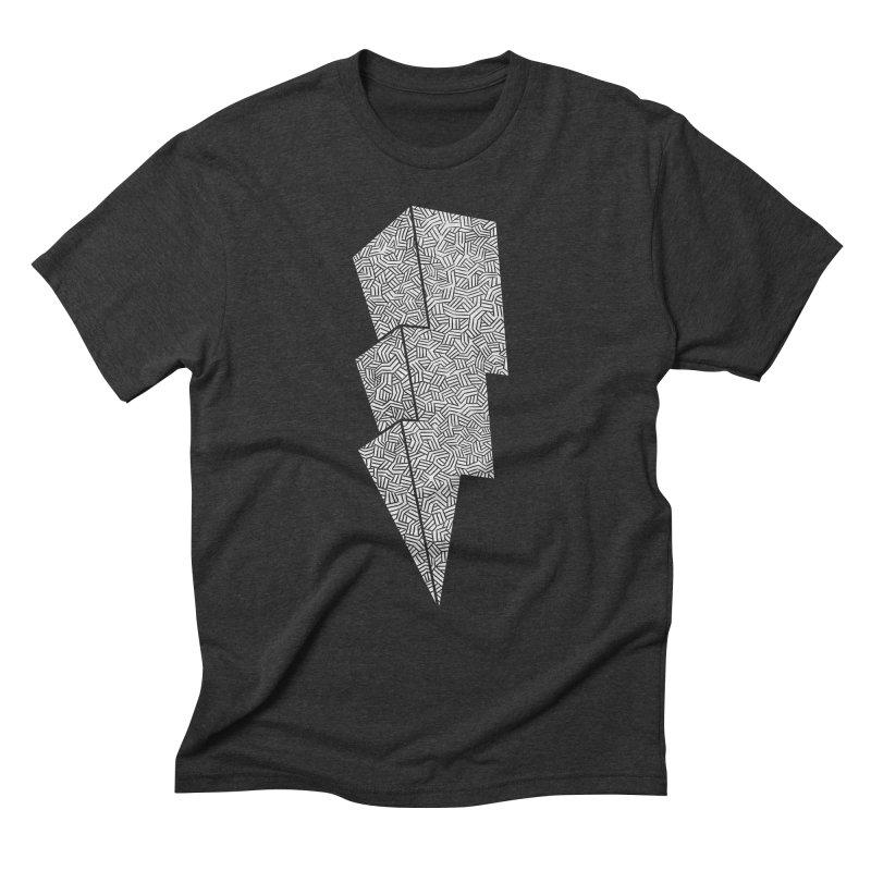 Bolt Men's Triblend T-shirt by One Legged Kiwi's Artist Shop