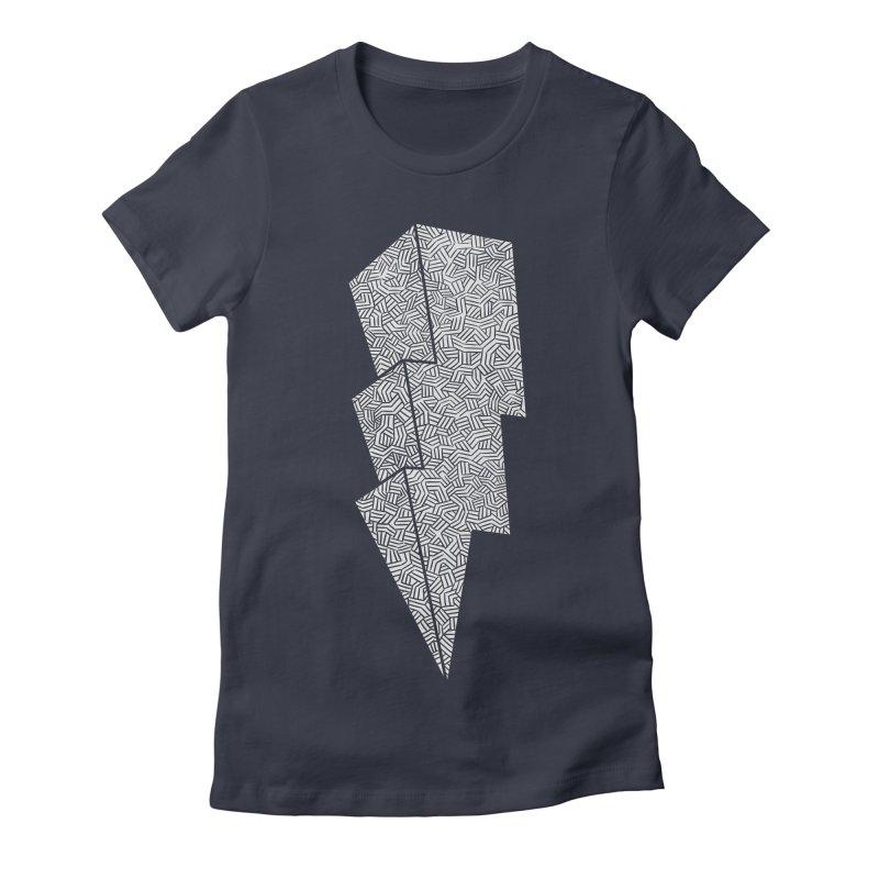Bolt Women's Fitted T-Shirt by One Legged Kiwi's Artist Shop