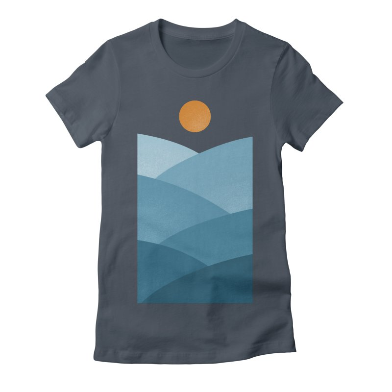 Waves Women's Fitted T-Shirt by One Legged Kiwi's Artist Shop