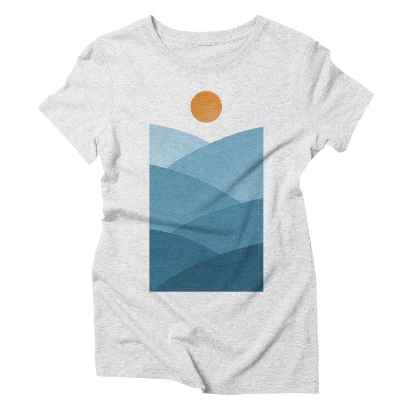 Waves Women's Triblend T-shirt by One Legged Kiwi's Artist Shop