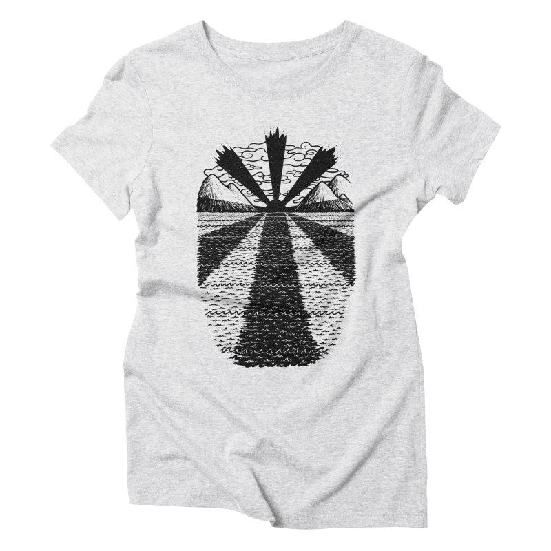 Dark Waves Women's Triblend T-shirt by One Legged Kiwi's Artist Shop