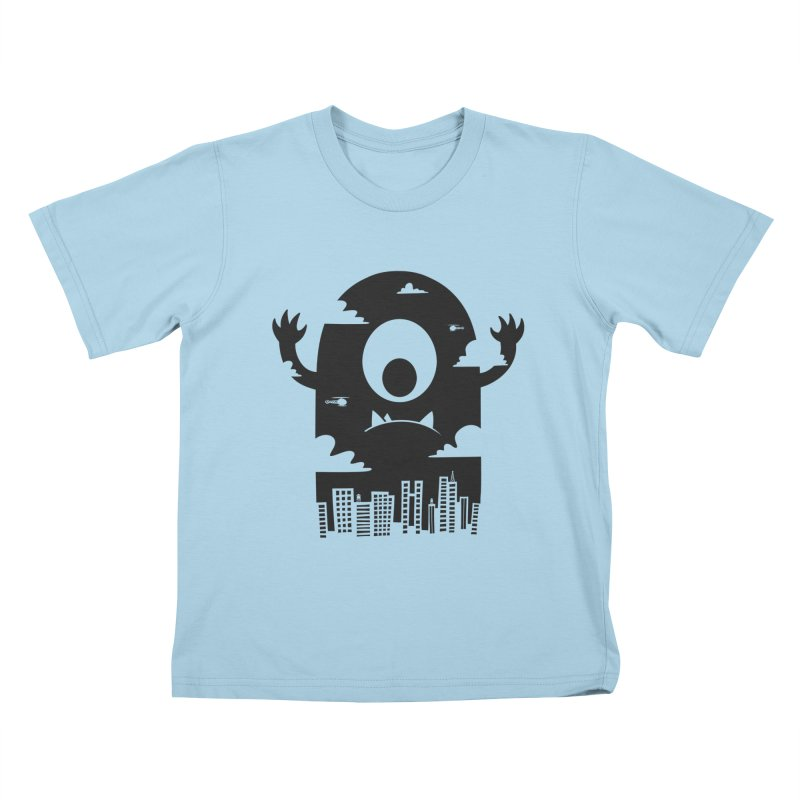 Mister Chomps Kids T-shirt by One Legged Kiwi's Artist Shop
