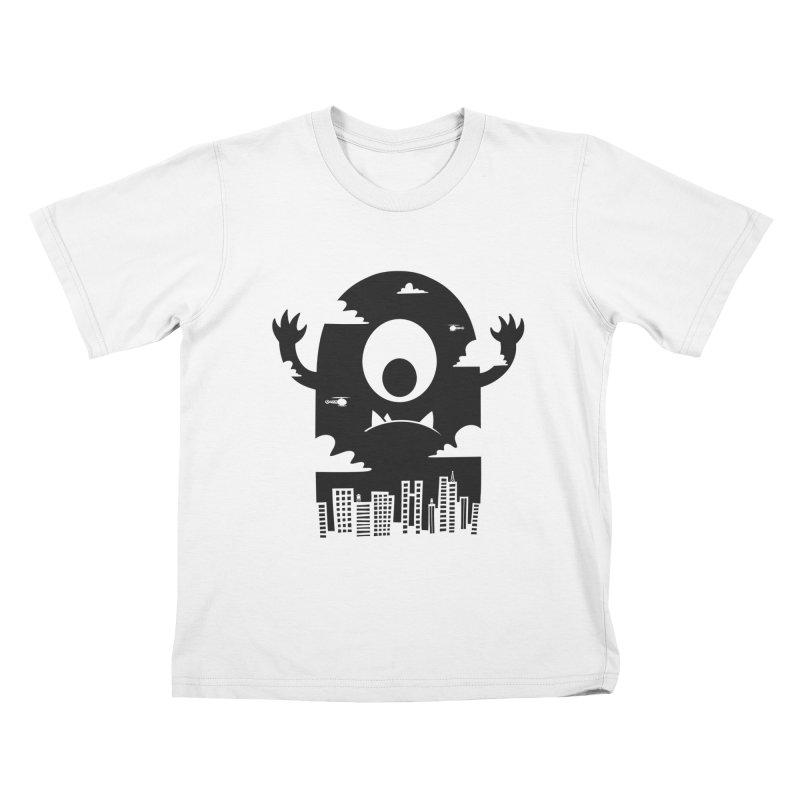 Mister Chomps Kids T-Shirt by One Legged Kiwi's Artist Shop