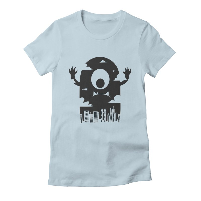 Mister Chomps Women's Fitted T-Shirt by One Legged Kiwi's Artist Shop