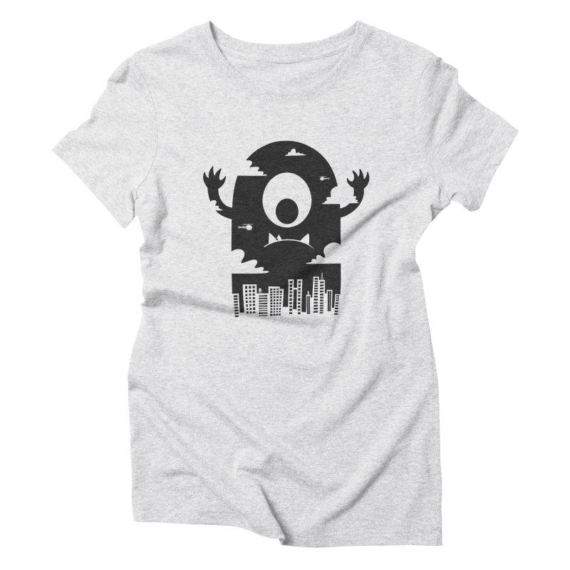 Mister Chomps Women's Triblend T-Shirt by One Legged Kiwi's Artist Shop