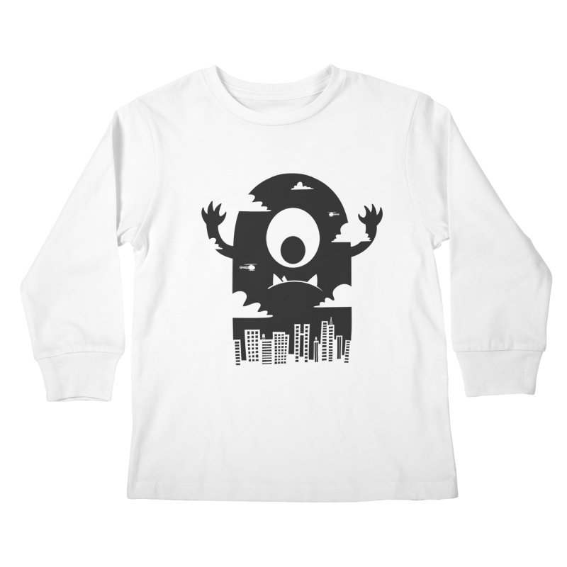Mister Chomps Kids Longsleeve T-Shirt by One Legged Kiwi's Artist Shop