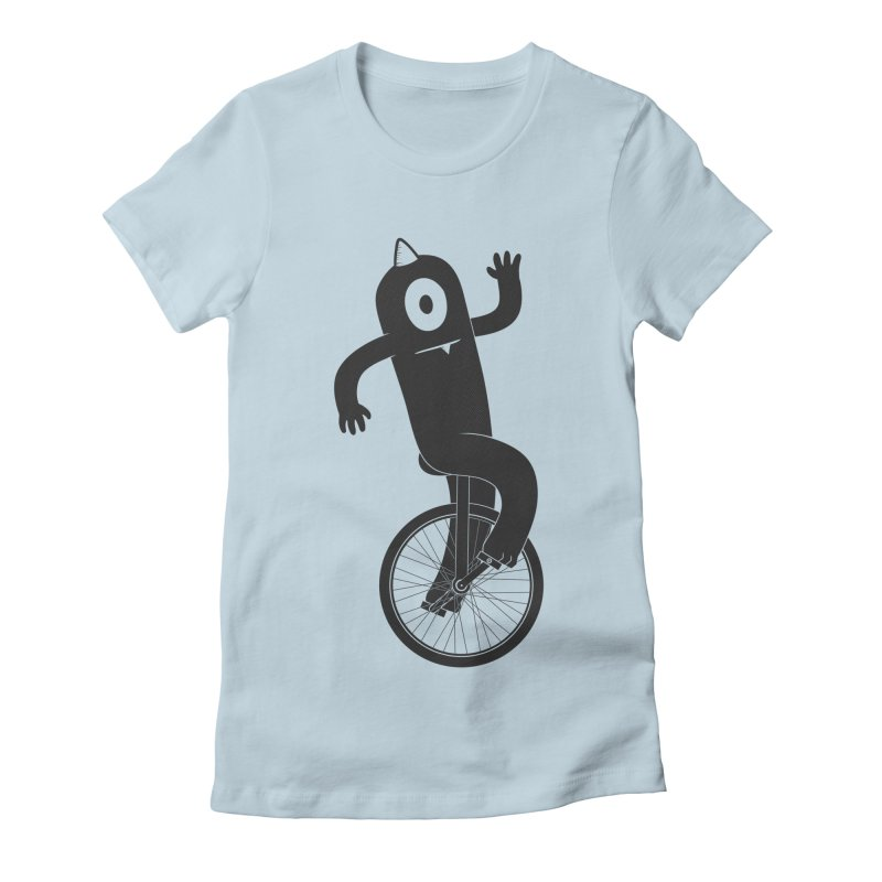 Unicyclops Women's Fitted T-Shirt by One Legged Kiwi's Artist Shop