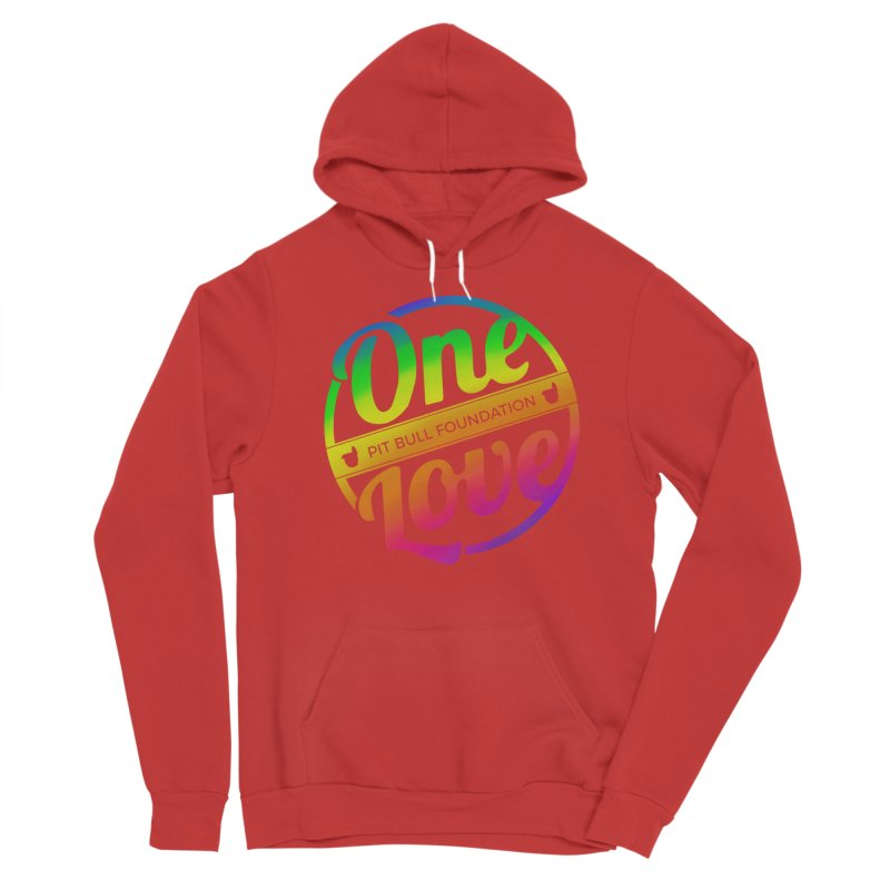 One Love Rainbow Men's Pullover Hoody by One Love Pit Bull Foundation