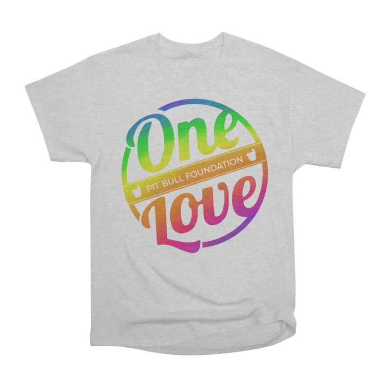 One Love Rainbow Men's T-Shirt by One Love Pit Bull Foundation