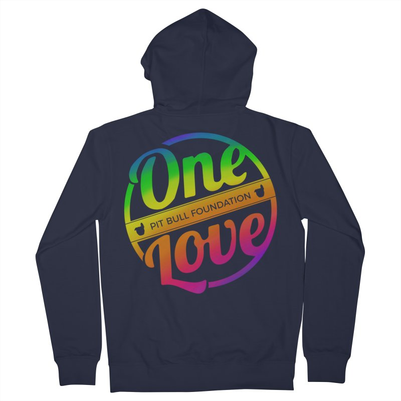 One Love Rainbow Women's Zip-Up Hoody by One Love Pit Bull Foundation