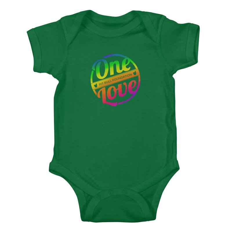 One Love Rainbow Kids Baby Bodysuit by One Love Pit Bull Foundation