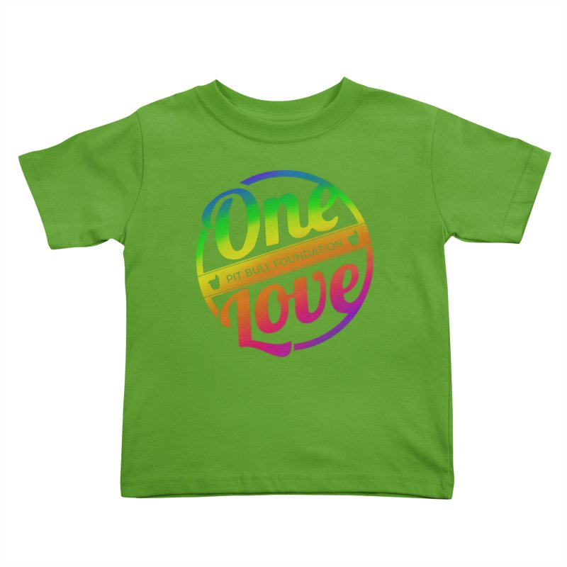 One Love Rainbow Kids Toddler T-Shirt by One Love Pit Bull Foundation