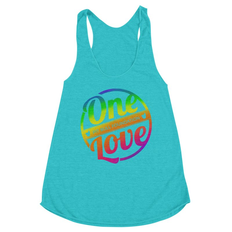 One Love Rainbow Women's Tank by One Love Pit Bull Foundation