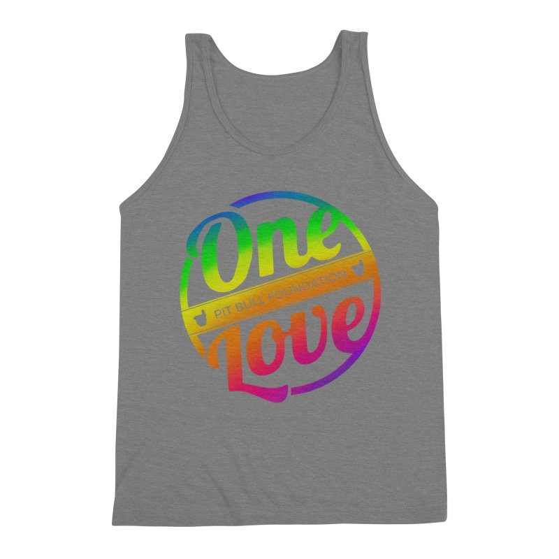 One Love Rainbow Men's Tank by One Love Pit Bull Foundation