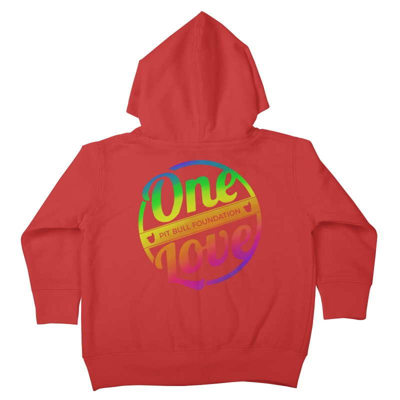 One Love Rainbow Kids Toddler Zip-Up Hoody by One Love Pit Bull Foundation