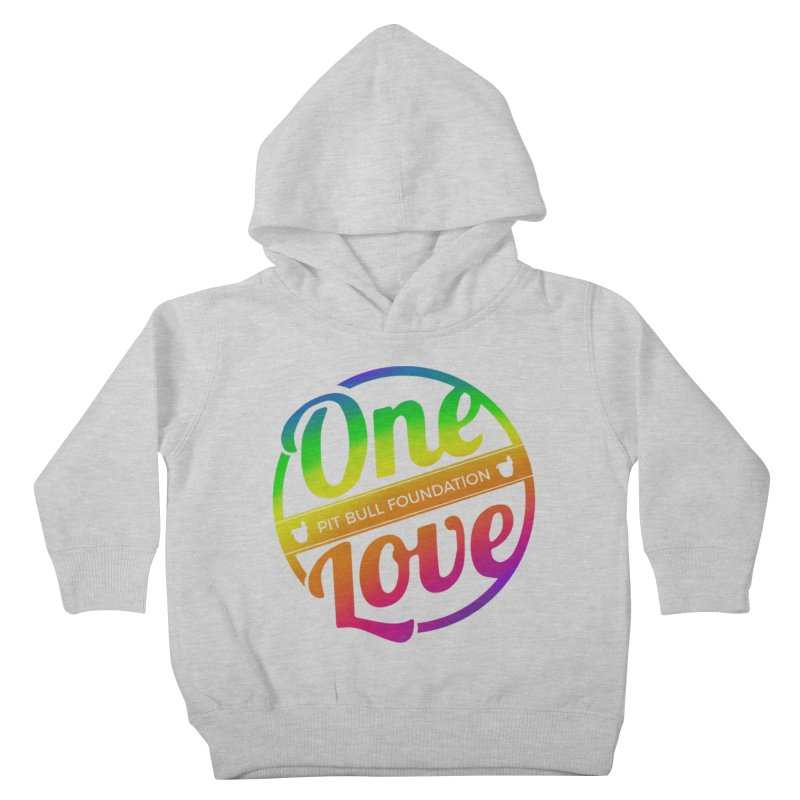 One Love Rainbow Kids Toddler Pullover Hoody by One Love Pit Bull Foundation