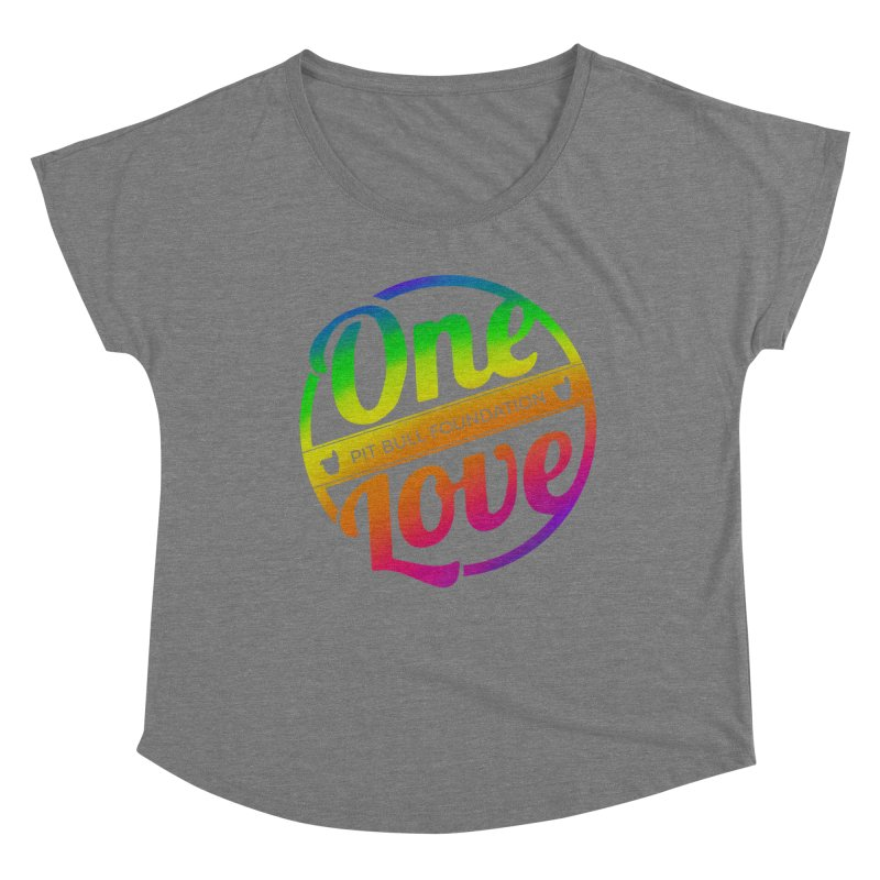 One Love Rainbow Women's Scoop Neck by One Love Pit Bull Foundation