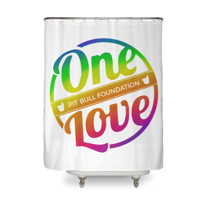One Love Rainbow Home Shower Curtain by One Love Pit Bull Foundation