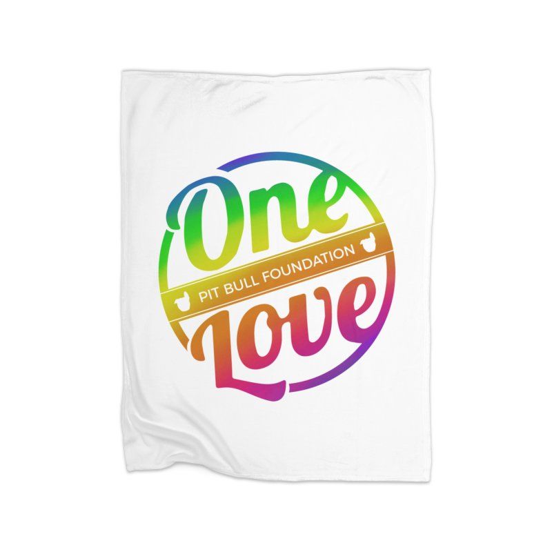 One Love Rainbow Home Blanket by One Love Pit Bull Foundation