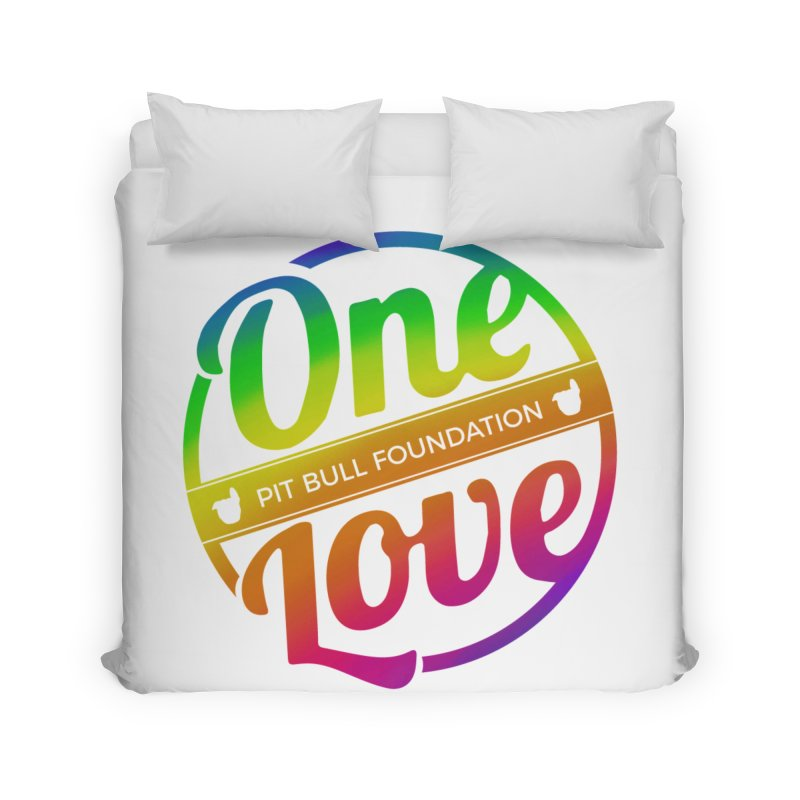 One Love Rainbow Home Duvet by One Love Pit Bull Foundation