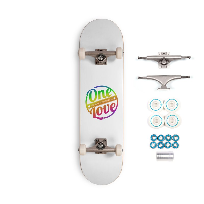 One Love Rainbow Accessories Skateboard by One Love Pit Bull Foundation