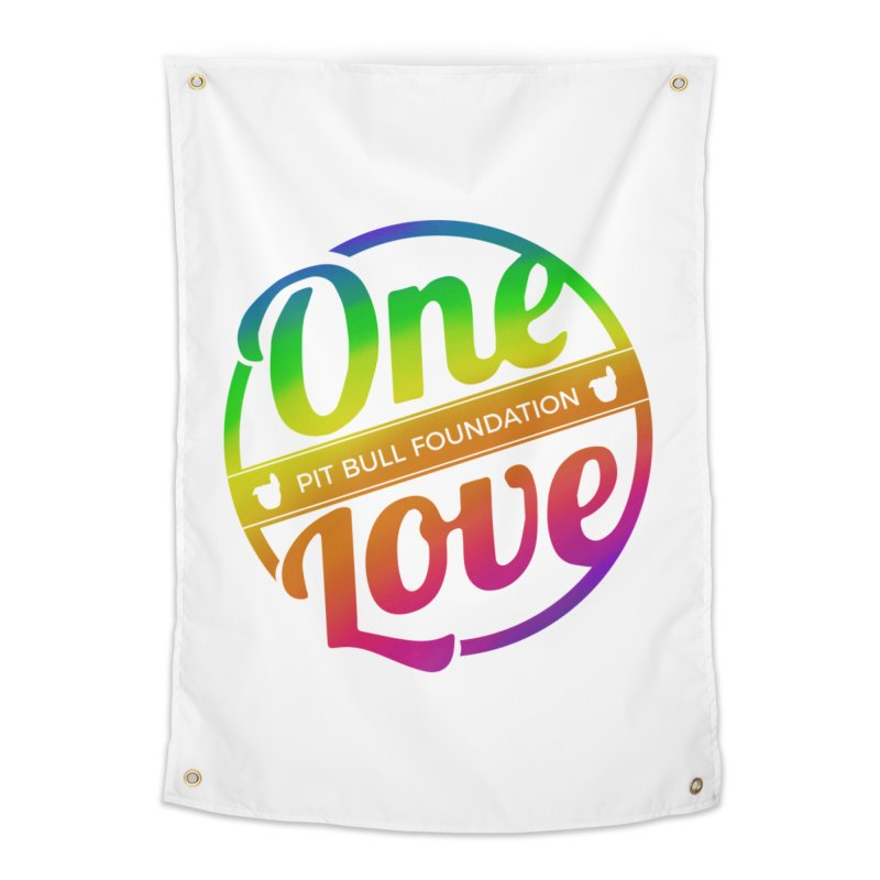 One Love Rainbow Home Tapestry by One Love Pit Bull Foundation