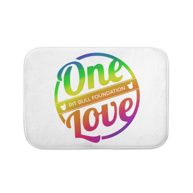 One Love Rainbow Home Bath Mat by One Love Pit Bull Foundation