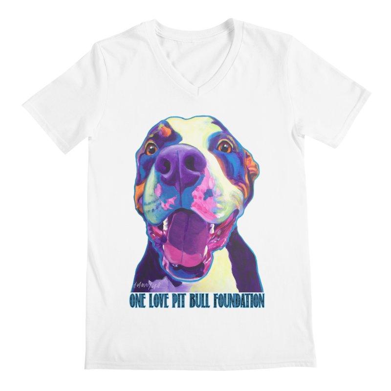 Mayhem Men's V-Neck by One Love Pit Bull Foundation