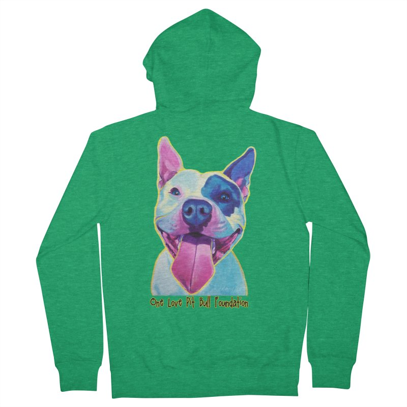 Big Louie Men's Zip-Up Hoody by One Love Pit Bull Foundation