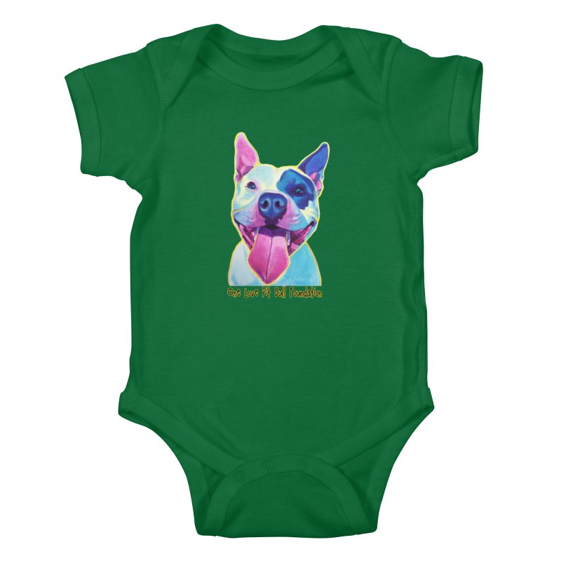 Big Louie Kids Baby Bodysuit by One Love Pit Bull Foundation