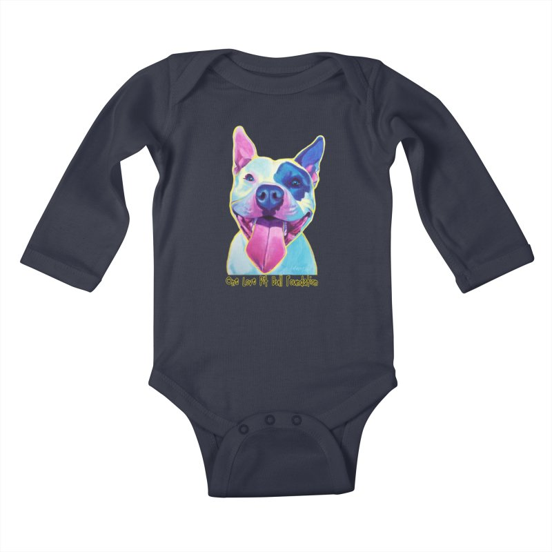 Big Louie Kids Baby Longsleeve Bodysuit by One Love Pit Bull Foundation