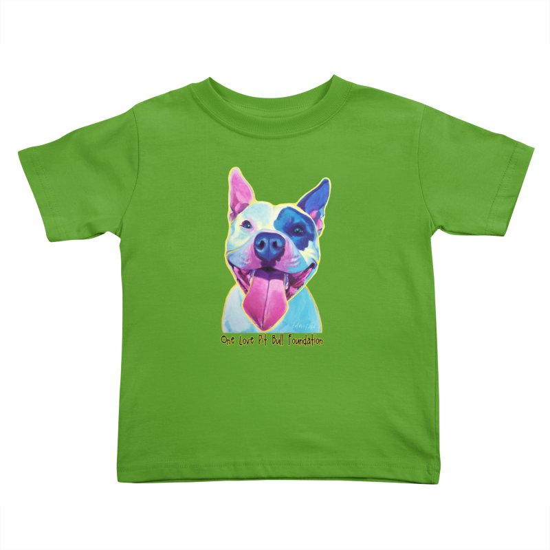 Big Louie Kids Toddler T-Shirt by One Love Pit Bull Foundation