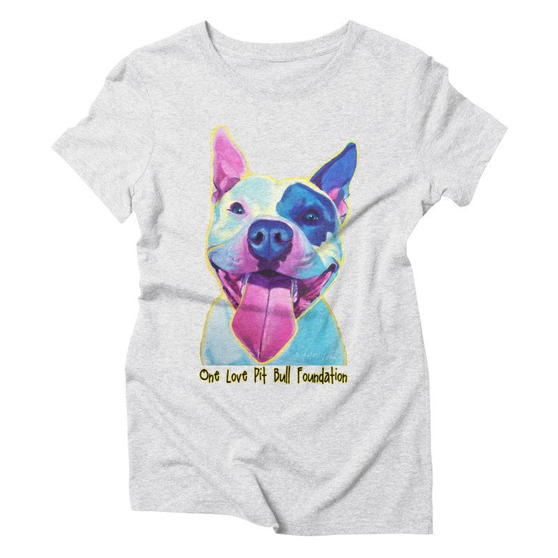 Big Louie Women's T-Shirt by One Love Pit Bull Foundation