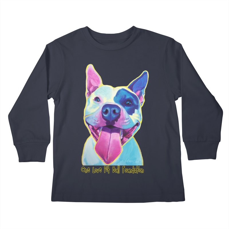 Big Louie Kids Longsleeve T-Shirt by One Love Pit Bull Foundation