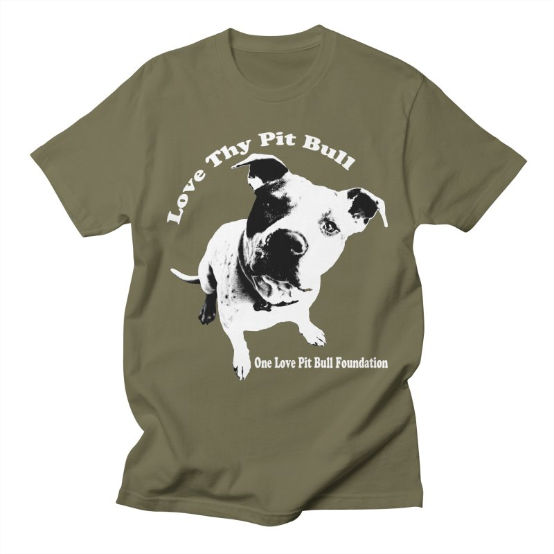Love Thy Pit Bull Men's T-Shirt by One Love Pit Bull Foundation