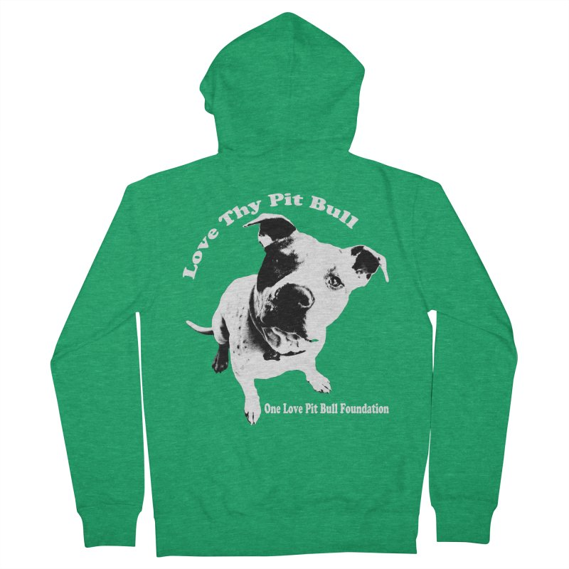 Love Thy Pit Bull Men's Zip-Up Hoody by One Love Pit Bull Foundation