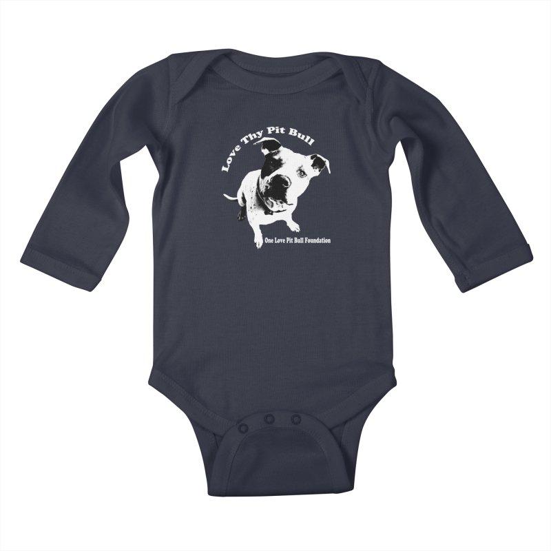 Love Thy Pit Bull Kids Baby Longsleeve Bodysuit by One Love Pit Bull Foundation