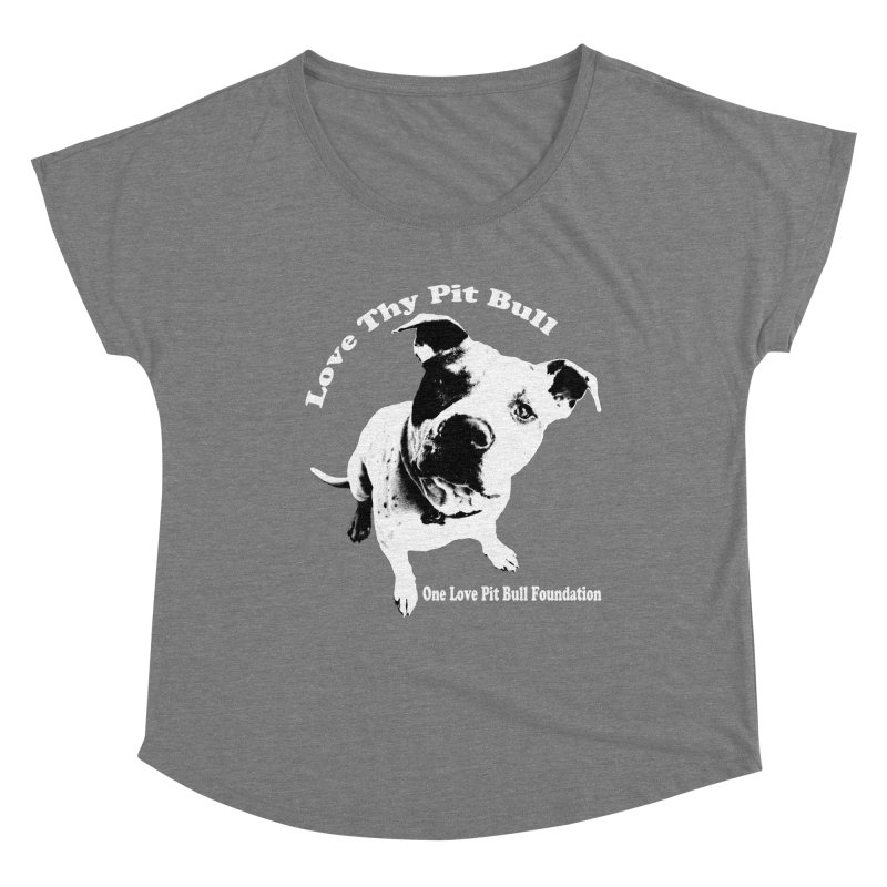 Love Thy Pit Bull Women's Scoop Neck by One Love Pit Bull Foundation