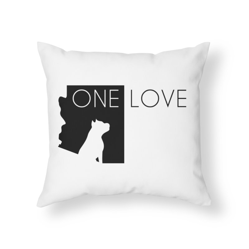 ONE LOVE Home Throw Pillow by One Love Pit Bull Foundation