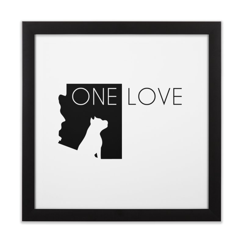 ONE LOVE Home Framed Fine Art Print by One Love Pit Bull Foundation