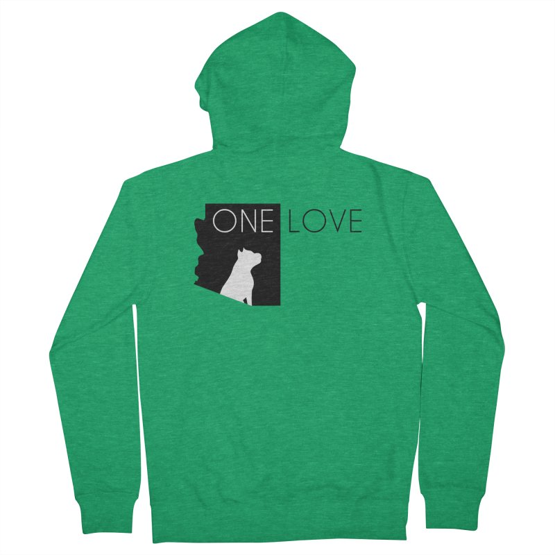 ONE LOVE Women's Zip-Up Hoody by One Love Pit Bull Foundation