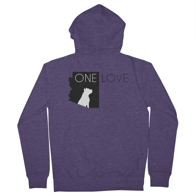 ONE LOVE Men's Zip-Up Hoody by One Love Pit Bull Foundation